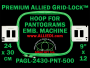 24 x 30 cm (9 x 12 inch) Rectangular Premium Allied Grid-Lock Plastic Embroidery Hoop - Pantograms 500