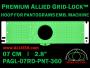 7 cm (2.8 inch) Round Premium Allied Grid-Lock Plastic Embroidery Hoop - Pantograms 360