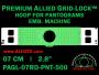 7 cm (2.8 inch) Round Premium Allied Grid-Lock Plastic Embroidery Hoop - Pantograms 500
