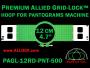 12 cm (4.7 inch) Round Premium Allied Grid-Lock Plastic Embroidery Hoop - Pantograms 500