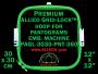 30 x 30 cm (12 x 12 inch) Square Premium Allied Grid-Lock Plastic Embroidery Hoop - Pantograms 360