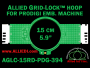 15 cm (5.9 inch) Round Allied Grid-Lock (New Design) Plastic Embroidery Hoop - Prodigi 394