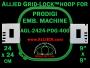 24 x 24 cm (9 x 9 inch) Square Allied Grid-Lock Plastic Embroidery Hoop - Prodigi 400