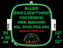 30 x 30 cm (12 x 12 inch) Square Allied Grid-Lock Plastic Embroidery Hoop - Prodigi 394 - Allied May Substitute this with Premium Version Hoop