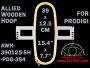 39.0 x 12.5 cm (15.4 x 4.9 inch) Rectangular Allied Wooden Embroidery Hoop, Single Height - Prodigi 394