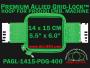 14 x 15 cm (5.5 x 6 inch) Rectangular Premium Allied Grid-Lock Plastic Embroidery Hoop - Prodigi 400