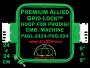 24 x 24 cm (9 x 9 inch) Square Premium Allied Grid-Lock Plastic Embroidery Hoop - Prodigi 394
