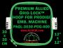 30 x 30 cm (12 x 12 inch) Square Premium Allied Grid-Lock Plastic Embroidery Hoop - Prodigi 400