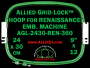 24 x 30 cm (9 x 12 inch) Rectangular Allied Grid-Lock Plastic Embroidery Hoop - Renaissance 360
