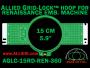 15 cm (5.9 inch) Round Allied Grid-Lock (New Design) Plastic Embroidery Hoop - Renaissance 360