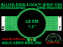 18 cm (7.1 inch) Round Allied Grid-Lock (New Design) Plastic Embroidery Hoop - Renaissance 360