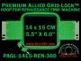 14 x 15 cm (5.5 x 6 inch) Rectangular Premium Allied Grid-Lock Plastic Embroidery Hoop - Renaissance 360