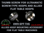Replacement Thumbscrew for Ultramatic Screw-Type Hoops & Allied Flat Table Hoops