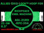 21 cm (8.3 inch) Round Allied Grid-Lock Plastic Embroidery Hoop - Richpeace 394