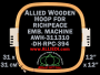 31.1 x 31.0 cm (12.2 x 12.2 inch) Rectangular Allied Wooden Embroidery Hoop, Double Height - Richpeace 394