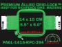 14 x 15 cm (5.5 x 6 inch) Rectangular Premium Allied Grid-Lock Plastic Embroidery Hoop - Richpeace 394