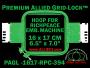 16 x 17 cm (6.5 x 7 inch) Rectangular Premium Allied Grid-Lock Plastic Embroidery Hoop - Richpeace 394