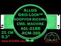 21 cm (8.3 inch) Round Allied Grid-Lock Plastic Embroidery Hoop - Ricoma 360