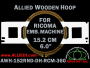 15.2 cm (6.0 inch) Round Allied Wooden Embroidery Hoop, Double Height - Ricoma 360