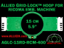 15 cm (5.9 inch) Round Allied Grid-Lock (New Design) Plastic Embroidery Hoop - Ricoma 400