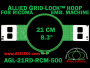 21 cm (8.3 inch) Round Allied Grid-Lock Plastic Embroidery Hoop - Ricoma 500