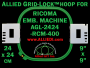 24 x 24 cm (9 x 9 inch) Square Allied Grid-Lock Plastic Embroidery Hoop - Ricoma 400