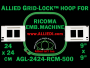 24 x 24 cm (9 x 9 inch) Square Allied Grid-Lock Plastic Embroidery Hoop - Ricoma 500