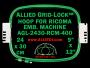 24 x 30 cm (9 x 12 inch) Rectangular Allied Grid-Lock Plastic Embroidery Hoop - Ricoma 400