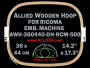 36.0 x 44.0 cm (14.2 x 17.3 inch) Rectangular Allied Wooden Embroidery Hoop, Double Height - Ricoma 500
