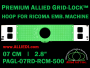 7 cm (2.8 inch) Round Premium Allied Grid-Lock Plastic Embroidery Hoop - Ricoma 500
