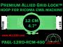 12 cm (4.7 inch) Round Premium Allied Grid-Lock Plastic Embroidery Hoop - Ricoma 400