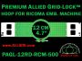 12 cm (4.7 inch) Round Premium Allied Grid-Lock Plastic Embroidery Hoop - Ricoma 500