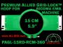 15 cm (5.9 inch) Round Premium Allied Grid-Lock Plastic Embroidery Hoop - Ricoma 360