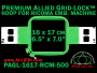 16 x 17 cm (6.5 x 7 inch) Rectangular Premium Allied Grid-Lock Plastic Embroidery Hoop - Ricoma 500