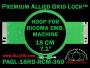18 cm (7.1 inch) Round Premium Allied Grid-Lock Plastic Embroidery Hoop - Ricoma 360