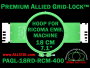 18 cm (7.1 inch) Round Premium Allied Grid-Lock Plastic Embroidery Hoop - Ricoma 400