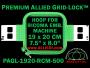 19 x 20 cm (7.5 x 8 inch) Rectangular Premium Allied Grid-Lock Plastic Embroidery Hoop - Ricoma 500