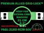 21 cm (8.3 inch) Round Premium Allied Grid-Lock Plastic Embroidery Hoop - Ricoma 500