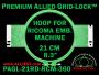 21 cm (8.3 inch) Round Premium Allied Grid-Lock Plastic Embroidery Hoop - Ricoma 360