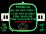 30 x 30 cm (12 x 12 inch) Square Premium Allied Grid-Lock Plastic Embroidery Hoop - Ricoma 500