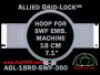 18 cm (7.1 inch) Round Allied Grid-Lock Plastic Embroidery Hoop - SWF 360