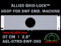 7 cm (2.8 inch) Round Allied Grid-Lock Plastic Embroidery Hoop - SWF 360