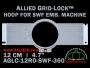 12 cm (4.7 inch) Round Allied Grid-Lock (New Design) Plastic Embroidery Hoop - SWF 360