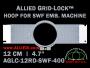 12 cm (4.7 inch) Round Allied Grid-Lock (New Design) Plastic Embroidery Hoop - SWF 400