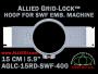 15 cm (5.9 inch) Round Allied Grid-Lock (New Design) Plastic Embroidery Hoop - SWF 400