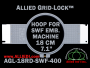 18 cm (7.1 inch) Round Allied Grid-Lock Plastic Embroidery Hoop - SWF 400