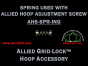 Center Spring for Allied Embroidery Hoops using Hex Head or Knurled External Adjustment Screws