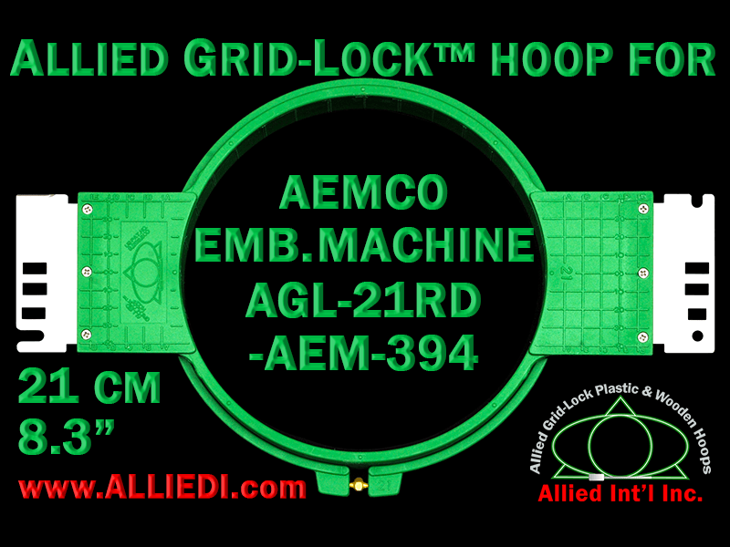 21 cm (8.3 inch) Round Allied Grid-Lock Plastic Embroidery Hoop - Aemco 394