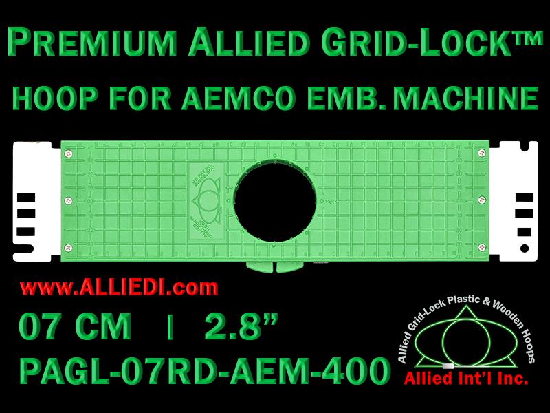 7 cm (2.8 inch) Round Premium Allied Grid-Lock Plastic Embroidery Hoop - Aemco 400