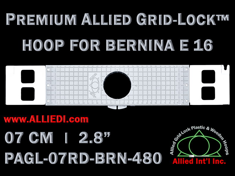 7 cm (2.8 inch) Round Premium Allied Grid-Lock Plastic Embroidery Hoop - Bernina 480
